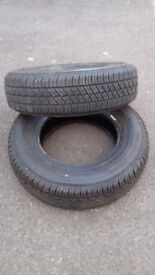 2 As New Tyres - 195 x 80 x 15 - Landrover Freelander - 9mm Tread - Grab a Bargain