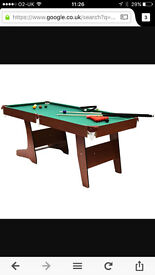 Charles Bentley Premium 6ft Pub Style Folding Snooker & Pool Table Foldable