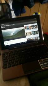 ASUS TABLET TF101 TRANSFORMER WITH KEYBOARD AND MANUFACTURER ADAPTER MAINS CHARGER. 16HRS BATTERY