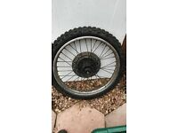 Yamaha XT600E engine, forks, wheels etc:-