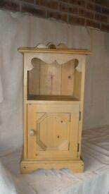 Pine Bedside Cabinet RH hang.