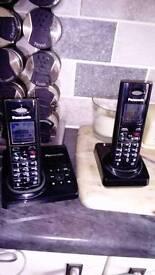 Panasonic twin portable phone set