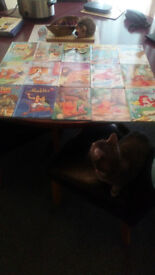Disney collection of books for kids...Movie Disney 3 books , Atlas , Pencil and paper games