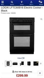 New greaded LOGIK LFTC60B16 Electric Cooker - Black £160 bargain price