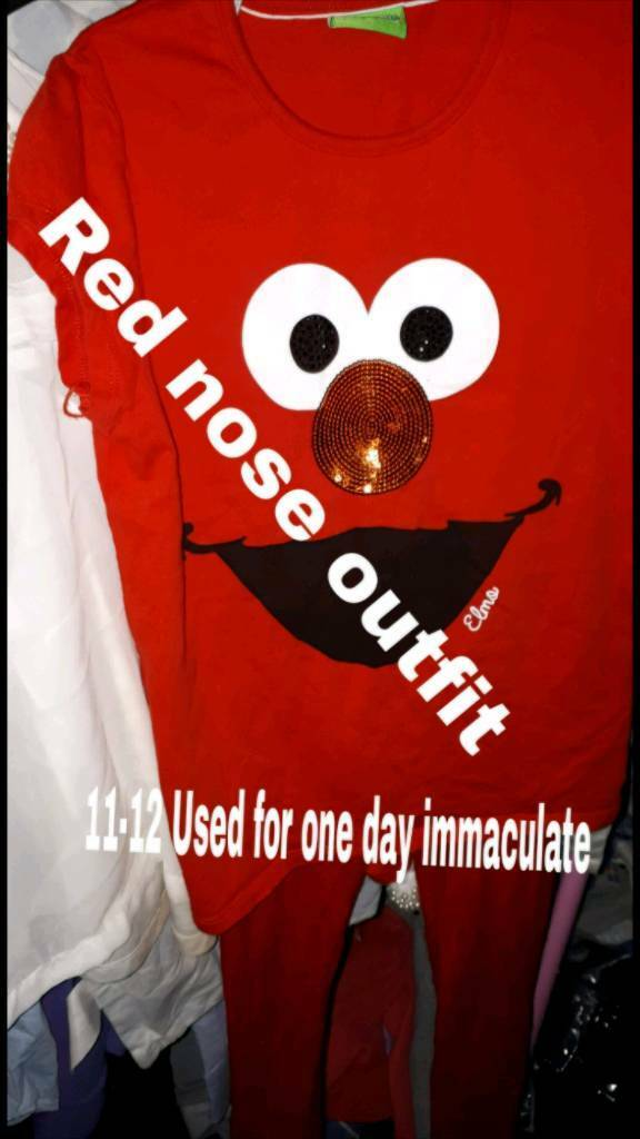 Red nose day outfit 11-12 years immaculate condition used once