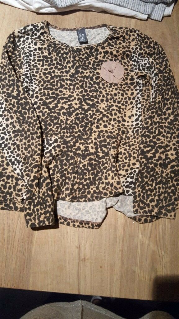 Girl Leopard Print Zara Top