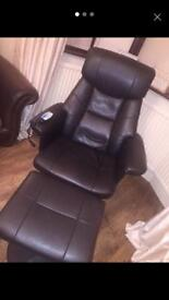Vibrating swivel chair & foot stool
