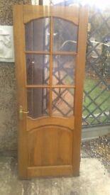 Glass panelled door oak
