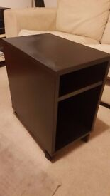 Black Ikea Bed side table