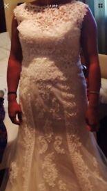 Wedding dress, shoes & headband