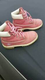 Timberland pink ladies boots size 4