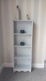 Grey display cabinet/bookcase