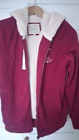 Ladies claret hoodie new