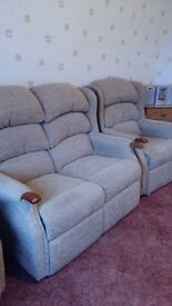 Disabled Riser Recliner Chair and 2 seater sofa plus chair