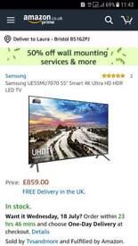 55 inch samsung LED smart tv