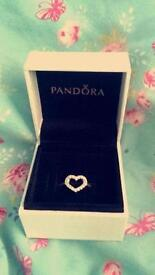 Excellent condition pandora ring with box and bag