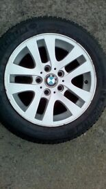 """BMW 16"""" alloys with Michelin Alpin winter tyres. 205/55/16"""