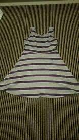 Grey and purple dress size 12