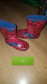 spiderman wellies
