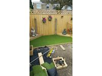 Artificial grass and groundworks