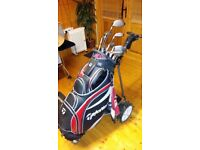 Golf set with electric trolley