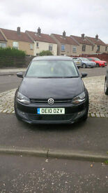 ***REDUCED FOR QUICK SALE*** Volkswagen VW Polo MODA 1.2L (70) 3dr Black Petrol 2010