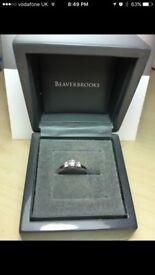 Beaverbrooks 18ct engagement ring Size L