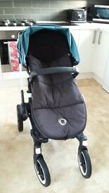 Bugaboo Buffalo, petrol blue with black cosy toes included!