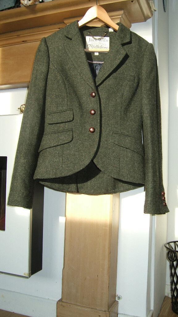 Jack Wills Green Tweed Jacket In Very Nice Condichon Size