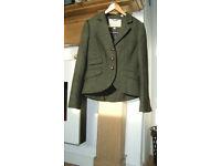 Jack Wills Green tweed jacket in very nice condichon size 10