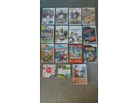 Nintendo Wii with accesories and 15 kids games