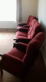 2 seater with 2 arm chairs (Dickleburgh,Diss)