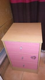 Beech/Pink Chest of 6 Drawers and 3 Drawers