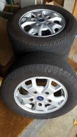 Set Of x 4 Genuine Ford Transit Custom Alloy Wheels With Tyres