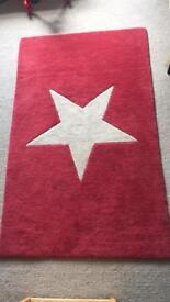 Red Star Rug 100% Wool Pile Rug Cox & Cox