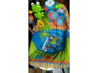 Baby rocker bath seat and walkers