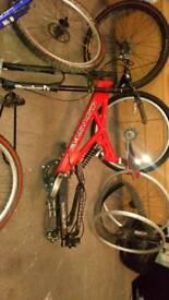 Various mountain biking parts
