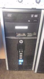Joblot 3X Hp Desktop Intel Core 2D RAM 4 GB SDRAM DDR3 Hard Drive 250-500GB HDD 100% Tested Windows7