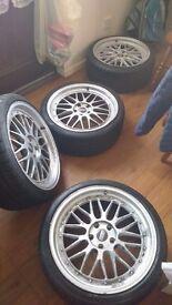 """19"""" alloys 4 tyres"""