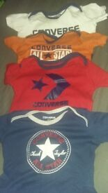 Small bundle of converse baby vests/tops