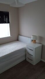 Single bedroom in a newly redecorated house