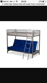 Highsleeper with double futon underneath