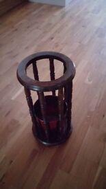 Wooden umbrella stand 52 cm high 26 cm diameter