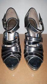 Carvela Silver and Blue Shoes. Size UK5