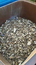 Large bin of garden bark for sale