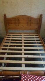 Solid wood bed frame. Standard double.
