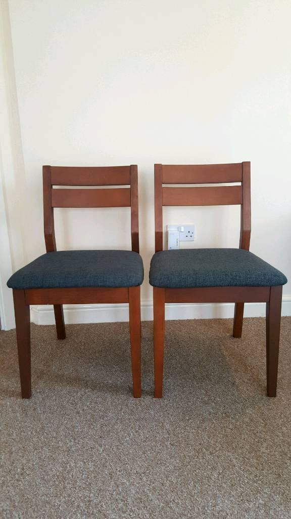 Wood/cushion dining chairs