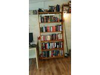 Book shelf - hardwood 198 cm (h) 93 cm (w) 33cm (d)