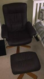 Sorento recliner armchair and footstool