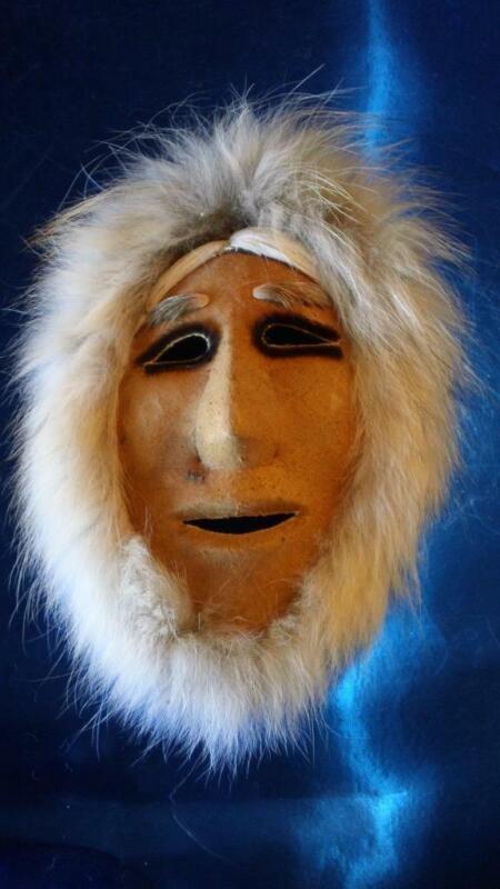 Vintage Alaskan Nunamiut Caribou Skin Mask From Anaktuvuk Pass - FREE SHIPPING